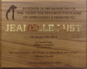 Capital Humane Society Award