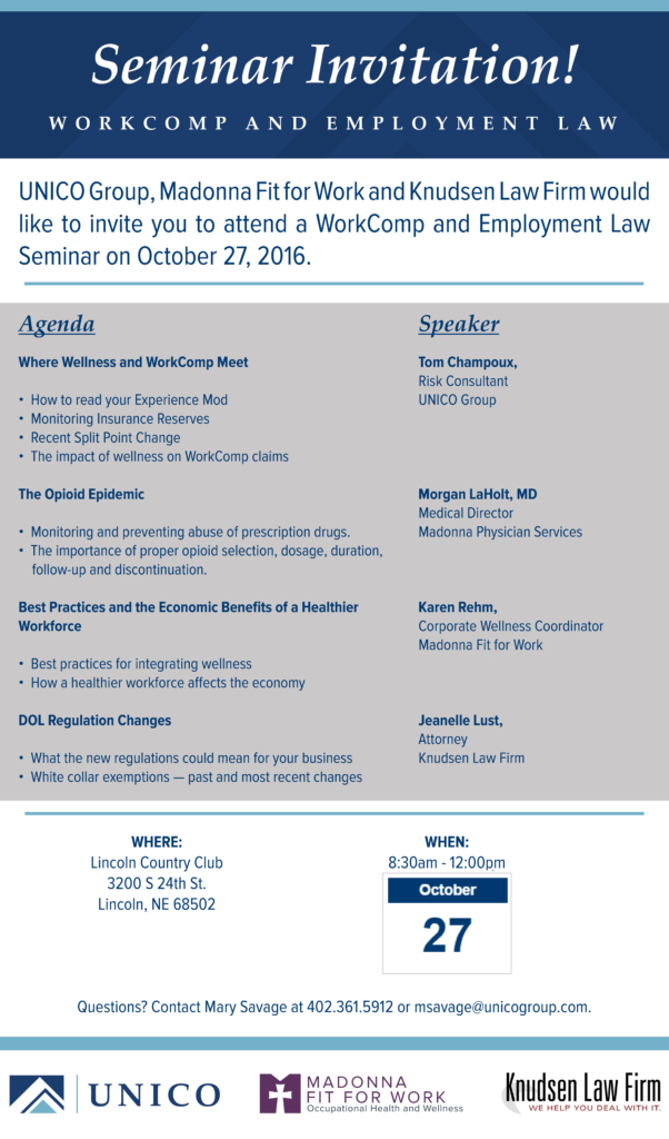 Workers Compensation and Employment Law Seminar
